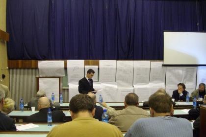 Защита Ю.В. Кожуховым кандидатской диссертации «Анализ и математическое моделирование напорной характеристики центробежного компрессора с использованием результатов расчёта невязкого квазитрёхмерного потока», 2007 год.