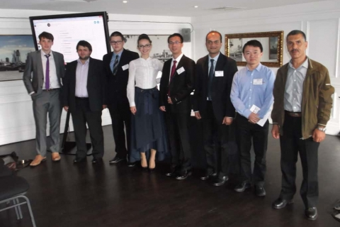 Сотрудники научно-инжинирингового центра А.А. Лебедев, Л.В. Решетникова и А.М. Данилишин на конференции в City University London (2016 год)