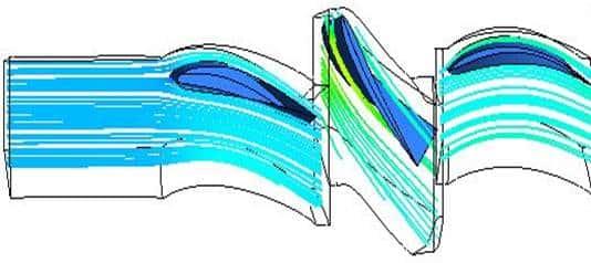 Исследование трехмерного вязкого течения ступени К-100-2Л.