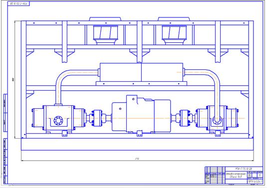 Компрессорная установка по утилизации попутного нефтяного газа с ротационно-пластинчатым компрессором