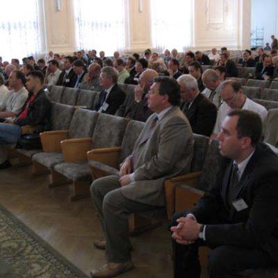 Симпозиум 2007: Участники симпозиума на церемонии открытия в Белом зале Санкт-Петербургского политехнического университета