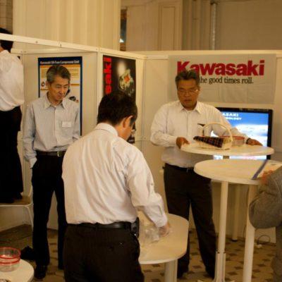 Симпозиум 2010: Стенд компании Kawasaki