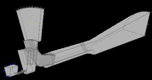 Рис. 2. Расчетная модель ступени РК-61