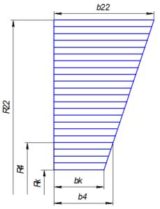 Рис. 2. Схема построения входного патрубка.