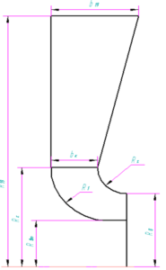 Рис.5. Эскиз контура входного патрубка.