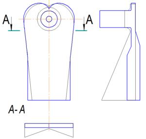 Рис. 6. Сравнение камеры КВР4 c камерой МОД (основные линии - камера КВР4, тонкие линии – камера МОД)