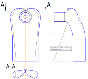 Рис. 8. Сравнение камеры КВР3 c камерой МОД (основные линии - камера КВР3, тонкие линии – камера МОД)