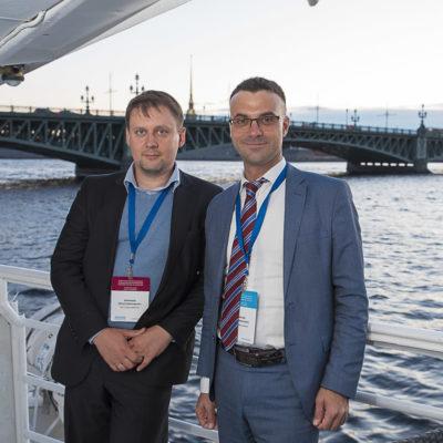 Конференция 2021: участники конференции на торжественном ужине на теплоходе по реке Неве